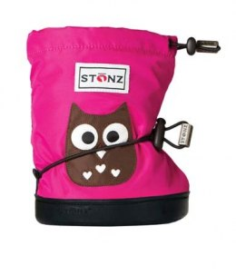 Stonz Booties Toddler Owl Fuchsia
