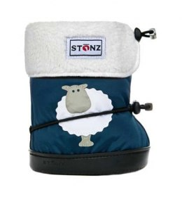 Stonz Booties Toddler Sheep Navy Blue