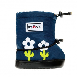 Stonz Booties Toddler Lime Green & White