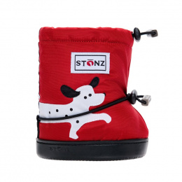 Stonz Booties Toddler Spot Dog Red