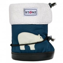 Stonz Booties Toddler Polar Bear Navy Blue