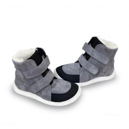 Febo Winter Gray - velour Baby Bare Shoes