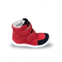 Febo Winter Red - velour Baby Bare Shoes