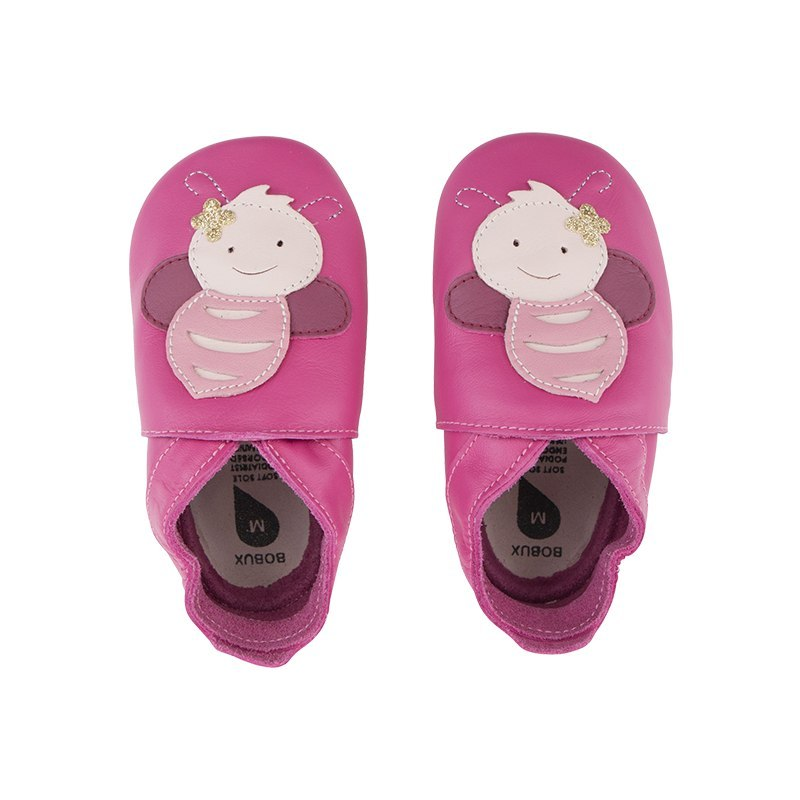 Bobux Soft Sole Bee Pink